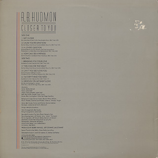 R.B. Hudmon / Closer To You back
