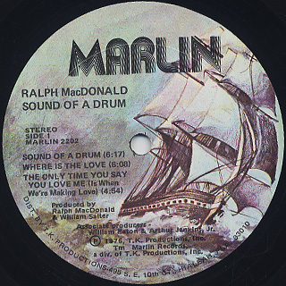 Ralph MacDonald / Sound Of A Drum label