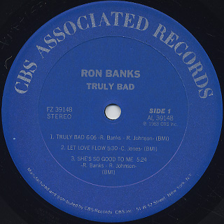 Ron Banks / Truly Bad label