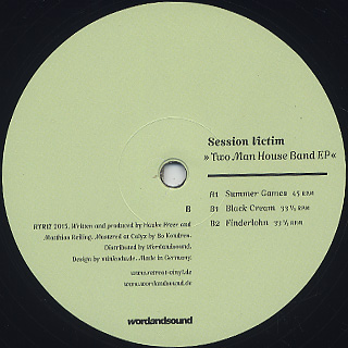 Session Victim / Two Man House Band EP back