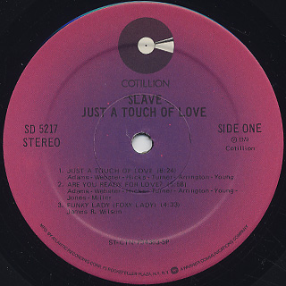 Slave / Just A touch Of Love label
