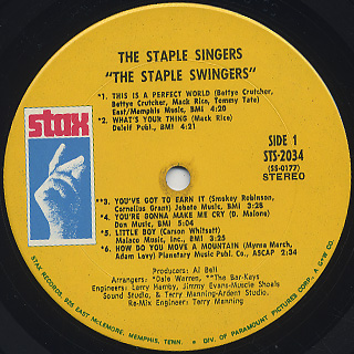 Staple Singers / S.T. label