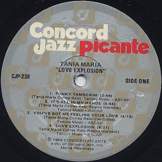 Tania Maria / Love Explosion label