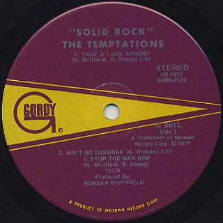 Temptations / Solid Rock label