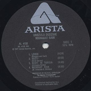 Urszula Dudziak / Midnight Rain label