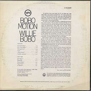 Willie Bobo / Bobo Motion back