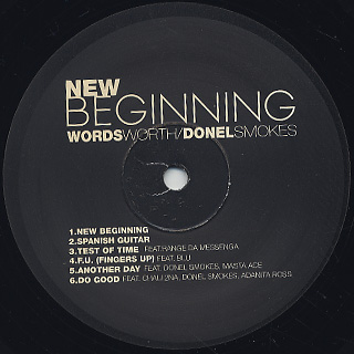 Wordsworth & Donel Smokes / New Beginning label