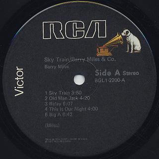 Barry Miles & Co. / Sky Train label