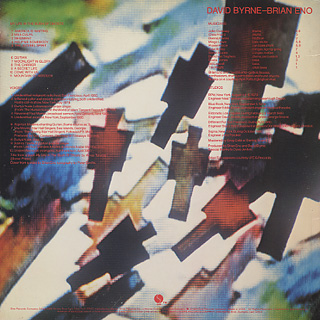 Brian Eno - David Byrne / My Life In The Bush Of Ghosts back