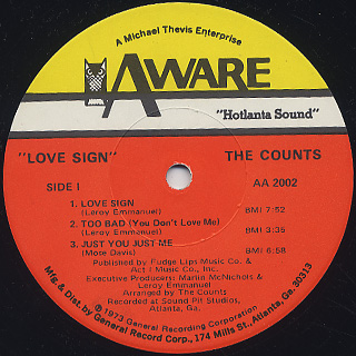 Counts / Love Sign label