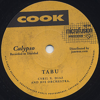 Cyril X. Diaz And His Orchestra / Tabu front