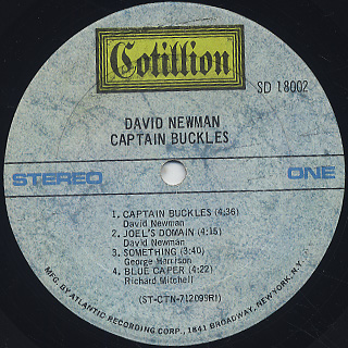 David Newman / Captain Buckles label