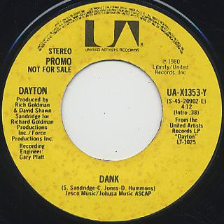 Dayton Dank 7inch United Artists 中古レコード通販 大阪 Root