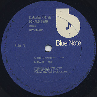 Donald Byrd / Ethiopian Knight label