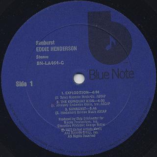 Eddie Henderson / Sunburst label