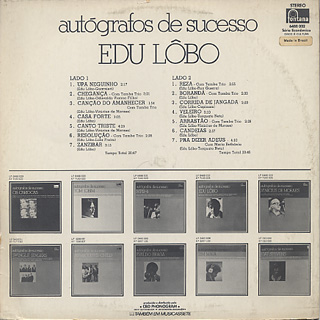 Edu Lobo / Autografos De Sucesso back