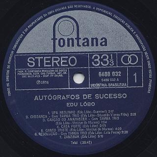 Edu Lobo / Autografos De Sucesso label
