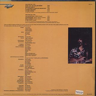 Frank Zappa / Apostrophe (') back