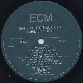 Gary Burton Quartet / Real Life Hits label