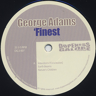 George Adams / Finest label