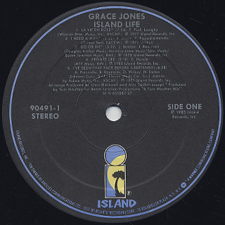Grace Jones / Island Life label