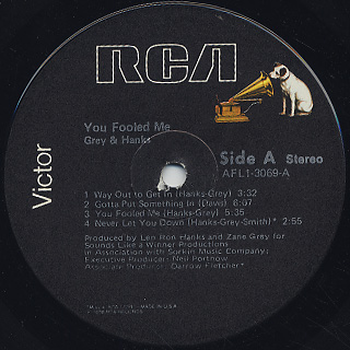 Grey And Hanks / You Fooled Me label