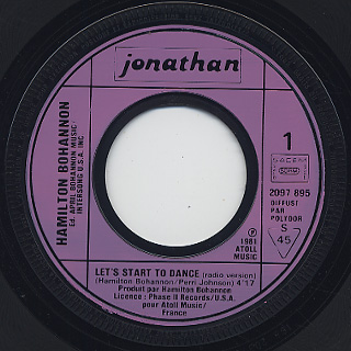 Hamilton Bohannon / Let's Start The Dance label