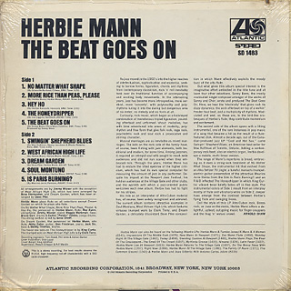 Herbie Mann / The Beat Goes On back