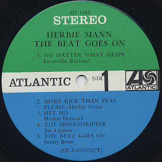 Herbie Mann / The Beat Goes On label