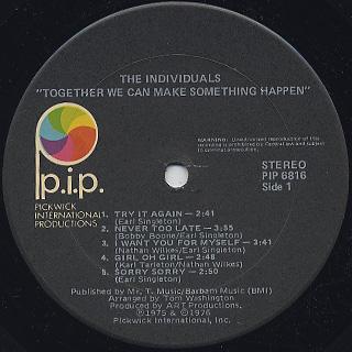 Individuals / Together (We Can Make Something Happen) label