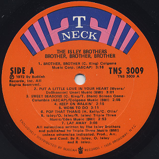 Isley Brothers / Brother, Brother, Brother label