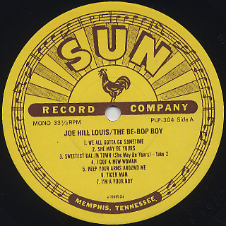 Joe Hill Louis / The Be-Bop Boy label