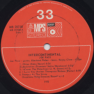 Joe Pass / Intercontinental label