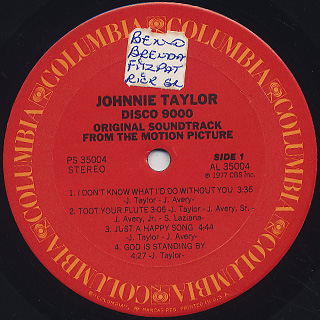 Johnnie Taylor / Disco 9000 label