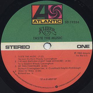 Kleeer / Taste The Music label
