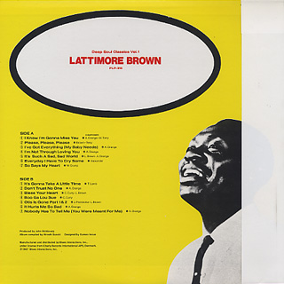 Lattimore Brown / Deep Soul Classics - Vol.1 back