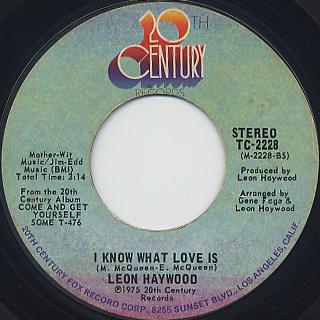 Leon Haywood / I Want'A Do Something Freaky To You back