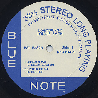 Lonnie Smith / Move Your Hand label