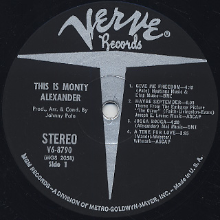 Monty Alexander / This Is Monty Alexander label