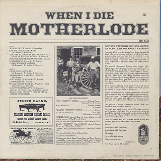 Motherlode / When I Die back