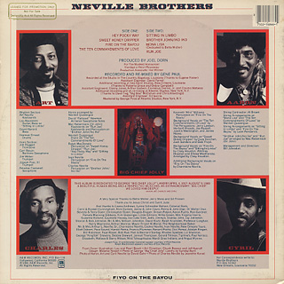 Neville Brothers / Fiyo On The Bayou back