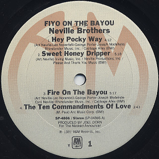 Neville Brothers / The Neville Brothers label