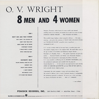 O.V. Wright / 8 Men And 4 Women back