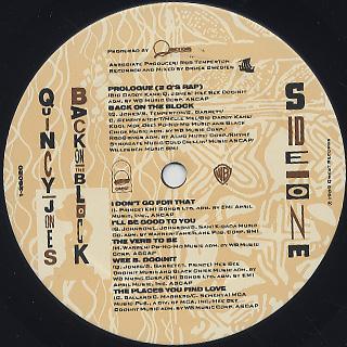 Quincy Jones / Back On The Block label