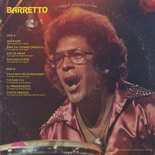 Ray Barretto / Barretto back