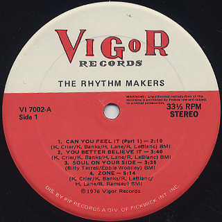 Rhythm Makers / Soul On Your Side label