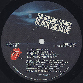 Rolling Stones / Black And Blue label