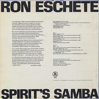 Ron Eschete / Spirit's Samba back
