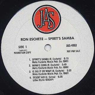 Ron Eschete / Spirit's Samba label