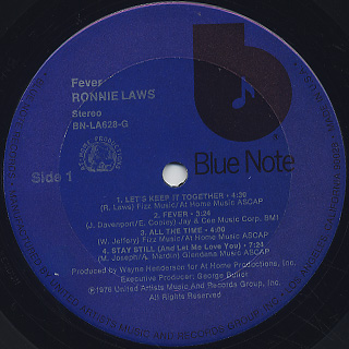 Ronnie Laws / Fever label
